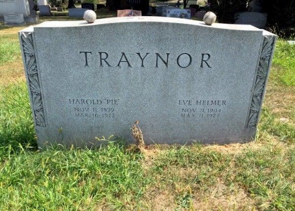 Pie Trainor's Grave, Baseball Hall of Famer, near Pittsburgh, Pennsylvania