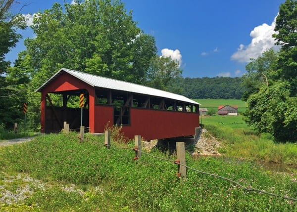Lairdsville Covered Bridge in Southeastern Lycoming County, Pennsylvania
