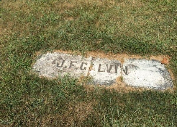 Pud Galvin's grave, Baseball Hall of Famer, near Pittsburgh, Pennsylvania