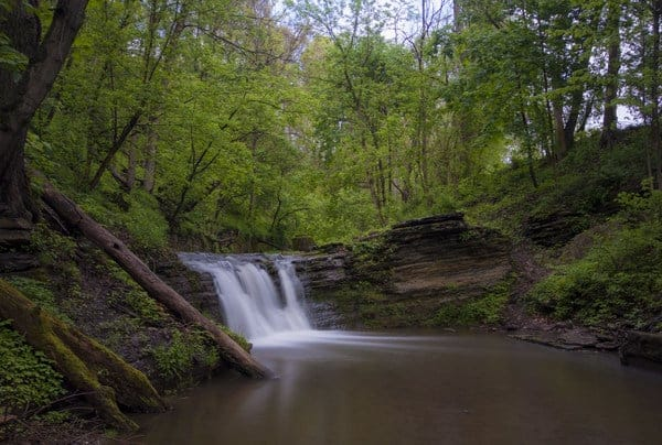 Visiting East Park Falls in Connellsville, PA