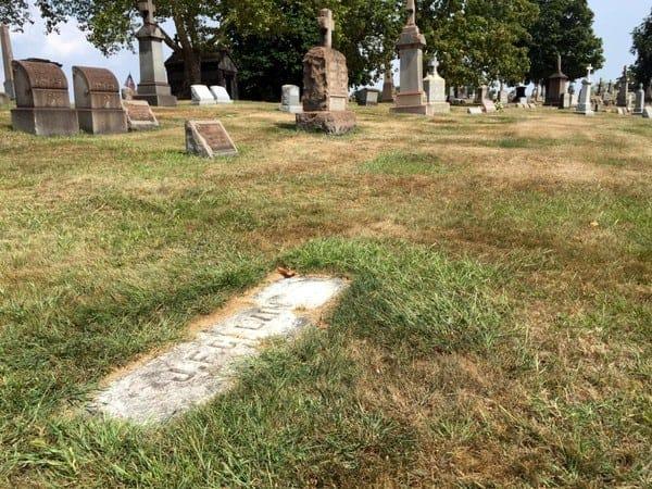 J.F. Galvin's grave, Baseball Hall of Famer, near Pittsburgh, Pennsylvania