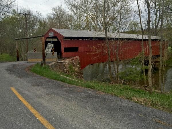 Ramp Covered Bridge in Newville, Pennsylvania