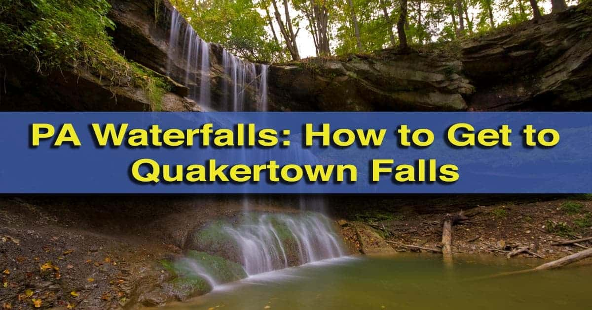 How to get to Quakertown Falls near New Castle, Pennsylvania
