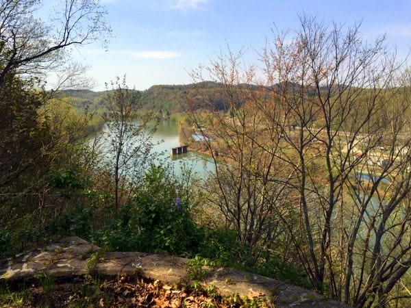 Monongahela River from Friendship Hill National Historic Site in Fayette County, Pennsylvania.