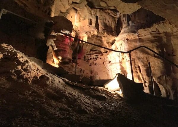 Lincoln Caverns formations in Huntingdon, PA