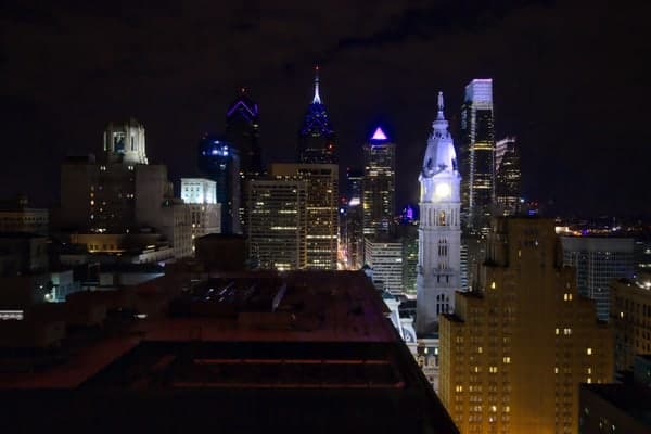 View from the Loews Hotel in Philadelphia.