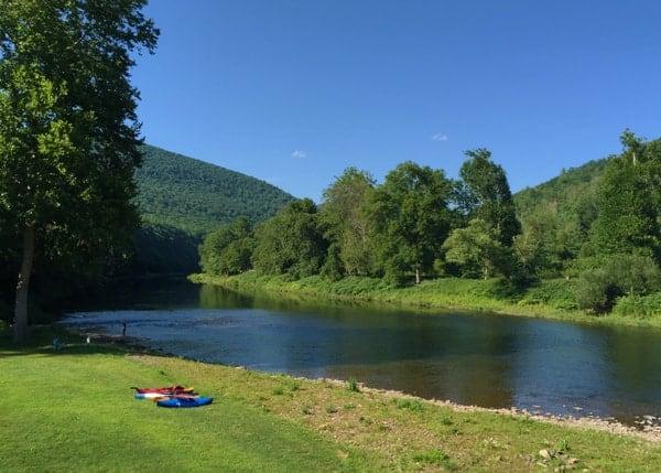 Biking Pine Creek Gorge Near Slate Run, Pennsylvania