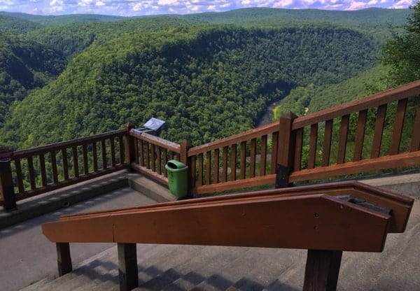 Things to see on the Pine Creek Rail Trail: The view from Leonard Harrison State Park