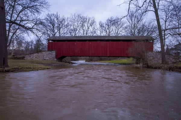 Pool Forge Covered Bridge in Lancaster County, Pennsylvania