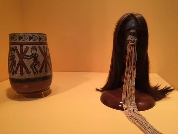 Shrunken head at the Reading Public Museum in Berks County, Pennsylvania