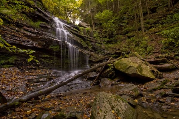 Little Four Mile Run Waterfall in Tioga County, Pennsylvania