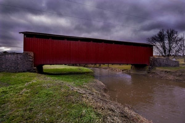 Weaver's Mill Covered Bridge in Lancaster County, Pennsylvania