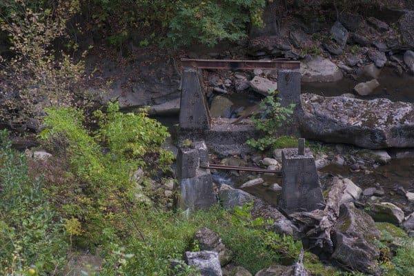 Cascade Park rollercoaster in New Castle, Pennsylvania