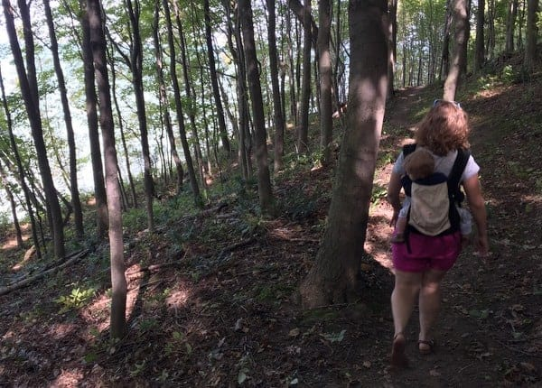 Hiking in Erie Bluffs State Park, Pennsylvania