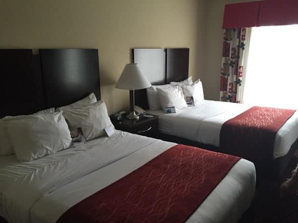 Staying at the Comfort Inn and Suites in Tunkhannock, Pennsylvania
