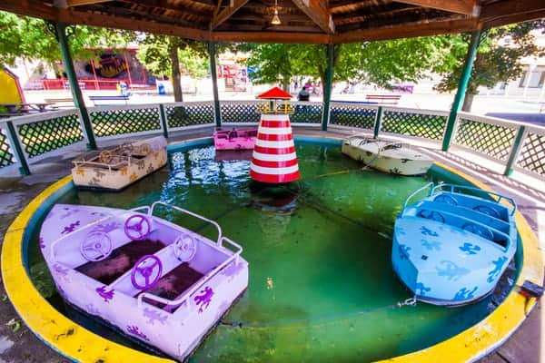 Kiddie ride at Conneaut Lake Park in Crawford County, Pennsylvania