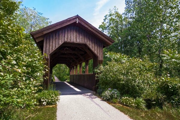 Covered Bridge on the Ernst Trail in Meadville, Pennsylvania