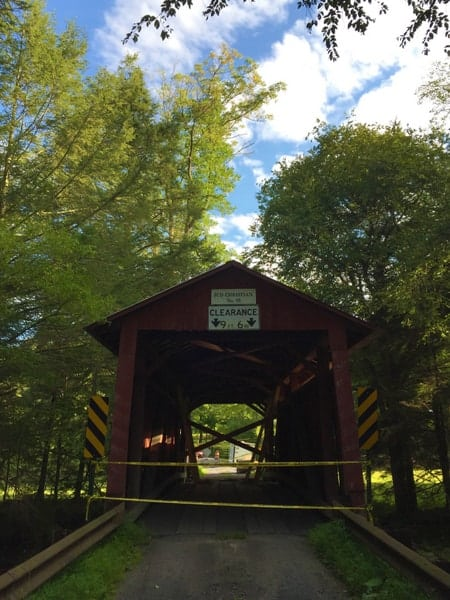 How to get to Jud Christian Covered Bridge in Columbia County, Pennsylvania