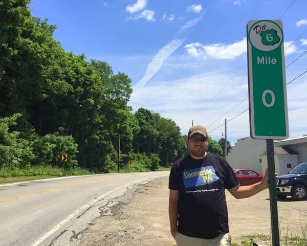 Pennsylvania Route 6 Mile Marker 0