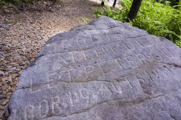 Visiting Scripture Rocks Heritage Park in Jefferson County, Pennsylvania.