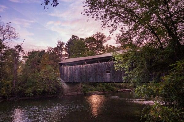 Kidd's Mill Covered Bridge near Greenville, Pennsylvania