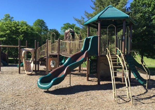 The playground at Mount Pisgah State Park.