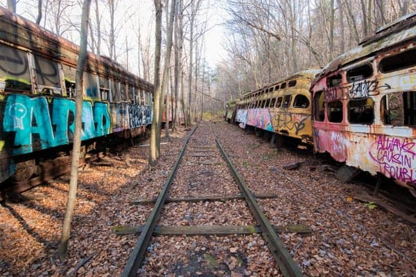 Exploring the Abandoned Trolley Graveyard in the Pennsylvania Laurel Highlands