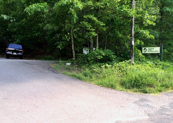 Parking for Shuman Point Natural Area in the Pocono Mountains