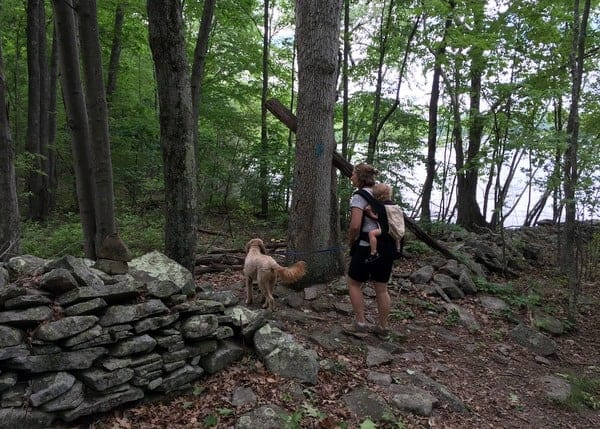 Hiking at Shuman Point Natural Area in the Pennsylvania Poconos
