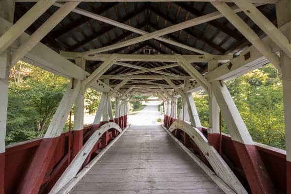 Burkholder Covered Bridge on Route 219 in Somerset County, PA