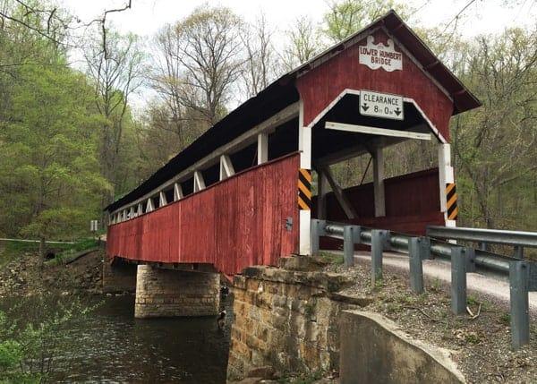 Lower Humbert Covered Bridge in Confluence, Pennsylvania