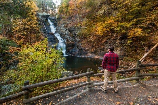 Waterfalls in the Poconos: Raymondskill Falls
