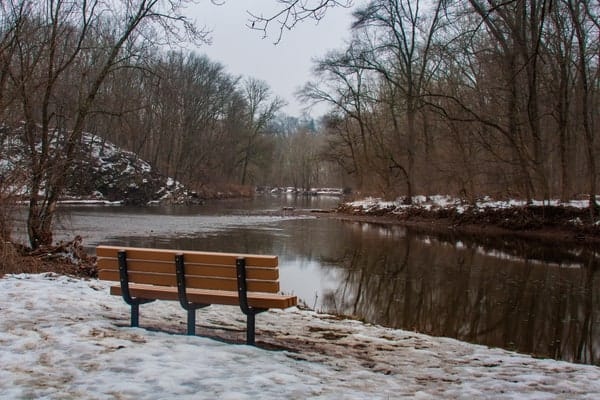 Neshaminy Creek in Tyler Point State Park.