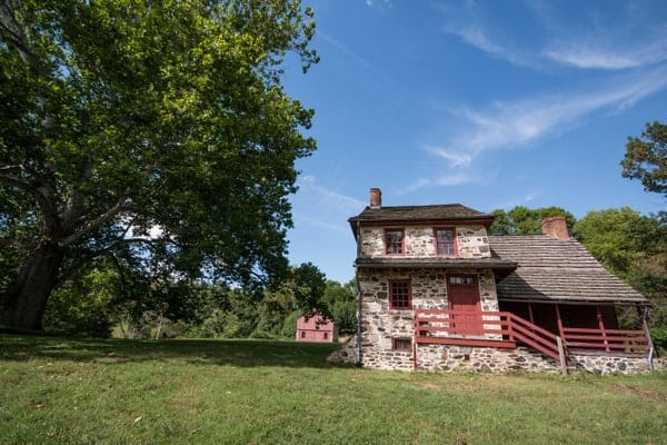 Gideon Gilpin House at the Brandywine Battlefield near Philadelphia, PA