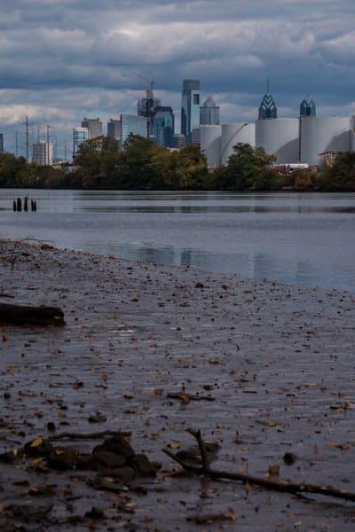 View of Philadelphia from Bartram's Garden.