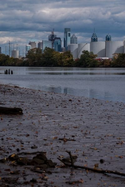 View of Philadelphia from Bartram's Garden.