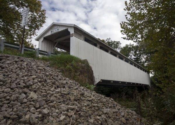 How to get to Banks Covered Bridge in Lawrence County, Pennsylvania