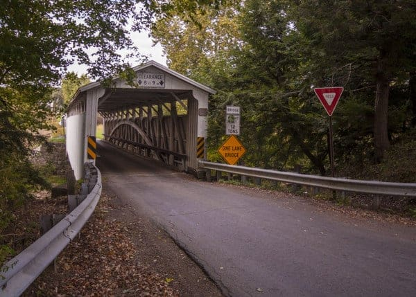 Visiting Banks Covered Bridge in Lawrence County, Pennsylvania