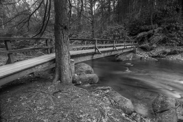 Bridge over Wild Creek in Beltzville State Park in the Pennsylvania Poconos