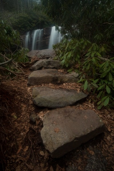 Waterfalls in Glen Onoko in Jim Thorpe, Pennsylvania