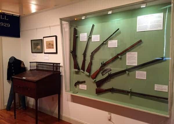Inside the Moravian Historical Society Museum in Nazareth, Pennsylvania.