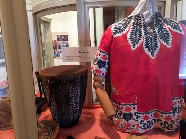 African artifacts at the Moravian Historical Society Museum in Nazareth, Pennsylvania