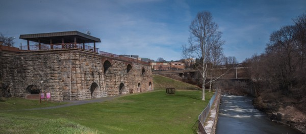 The Scranton Iron Furnaces in downtown Scranton, Pennsylvania