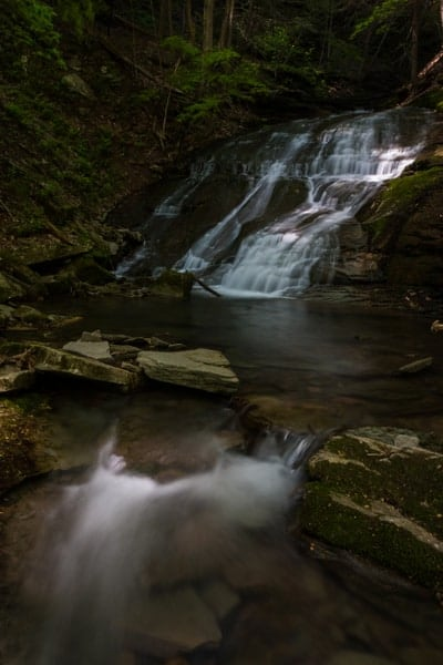 Waterfalls in the Pennsylvania Grand Canyon: Pine Island Run Falls