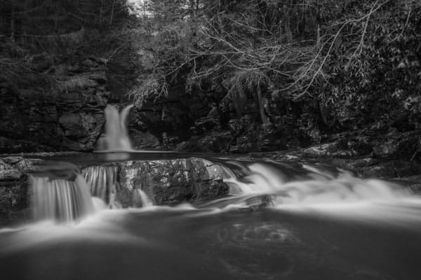How to get to Rattlesnake Falls in Pinchot State Forest, Lackawanna County, PA