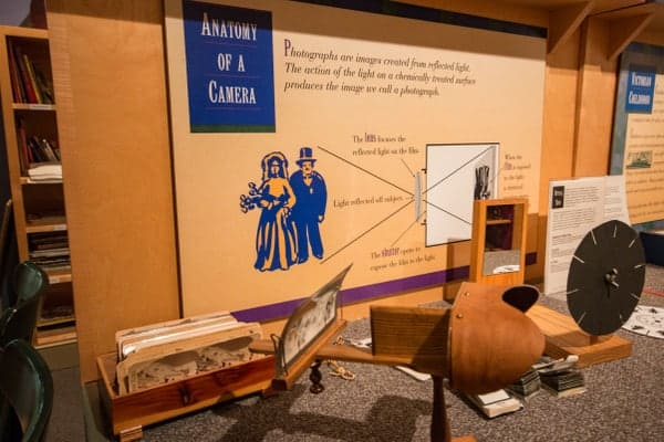Interactive displays at the Chester County Historical Society Museum in Chester County, PA