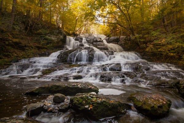 Pocono Mountains Waterfalls: Indian Ladder Falls