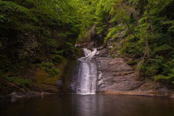 How to get to Hornbecks Falls in the Delaware Water Gap of Pennsylvania