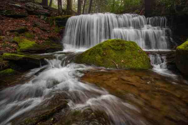 Hiking to Yost Run Falls in Sproul State Forest