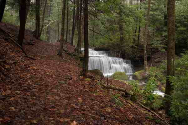 Waterfalls on the Chuck Keiper Trail in Sproul State Forest